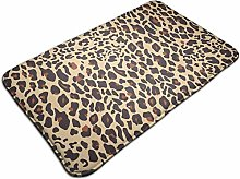 Leopard Pattern Tiger Skin Background Bath Mat