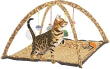 Leopard Print Pet Cat Activity Playing Tent Toy