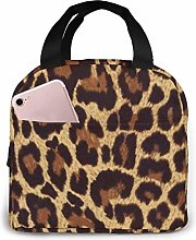 Leopard Print Reusable Lunch Bags Leakproof