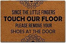 Leozon Doormats Indoor Outdoor Non Slip Rubber