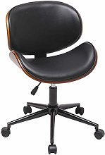 LEPAK Black Office Chairs for Home,Faux Leather