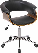 LEPAK Black Office PC Desk Chairs,Faux Leather