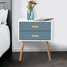 LEPAK Blue Bedside Table Unit Cabinet Nightstand 2