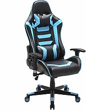 LEPAK Massage Gaming Chair,High-Back PU Leather