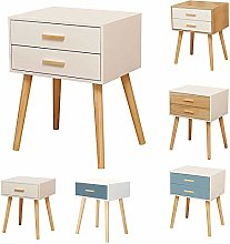 LEPAK White Bedside Table Unit Cabinet Nightstand