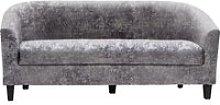 Leporis Crushed Velvet 3 Seater Sofa In Silver