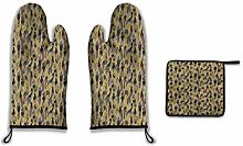 Lesif Oven Mitts and Pot Holders,birds of prey in