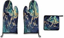 Lesif Oven Mitts and Pot Holders,dramaqueen gold