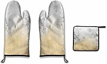 Lesif Oven Mitts and Pot Holders,gold dust on