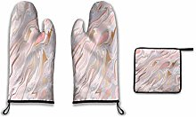 Lesif Oven Mitts and Pot Holders,marble and gold