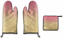 Lesif Oven Mitts and Pot Holders,pink abstract
