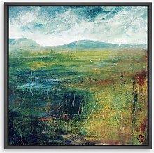 Lesley Birch - 'Hill & Water' Wood Framed