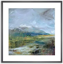 Lesley Birch - 'Winter Hills' Wood Framed