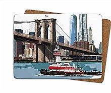 Leslie Gerry New York Brooklyn Bridge Single Table