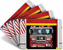 Leslie Gerry New York Fire Department Set of 4