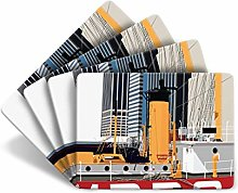 Leslie Gerry New York Seaport Set of 4 Table Mats