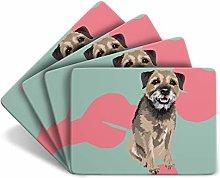 Leslie Gerry Set of 4 Border Terrier Placemats - 4