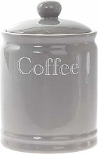Lesser & Pavey Classic Grey Ceramic Coffee Canister