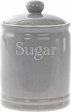 Lesser & Pavey Classic Grey Ceramic Sugar Canister