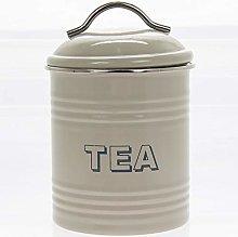 Lesser & Pavey Sweet Home Tea Canister-Sage, H19cm