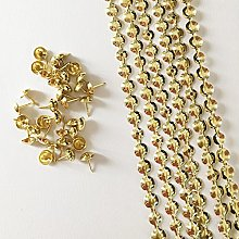 Let's Decorate 10 Meters D11mm Golden Plated