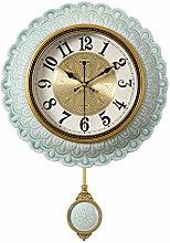 letaowl Round Ceramics Wall Clock European Style