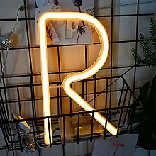 Letter Neon Lights Warm White LED Neon Word Signs