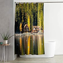 Letter stitching the shower curtains cheap shower