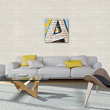 Letters Graphic Art Print on Canvas in