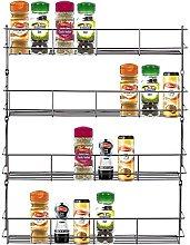 LETTUCE EAT ® Chrome 4 Tier 32 Jars Spice Herb