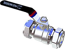 Lever Ball Valve, Silver, 22 mm