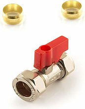 Lever Operated Isolating Valve Red Handle 15mm