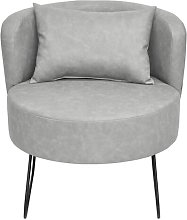 Lever Tub Chair Happy Barok Upholstery: Grey