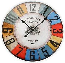 Levesque 57cm Silent Wall Clock Borough Wharf
