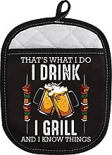 LEVLO Funny BBQ Grilling Oven Mitt with Hot Pads