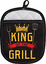 LEVLO Funny Cooking Grill Oven Mitt with Hot Pads