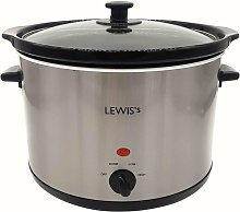 Lewis's 8L Stainless Steel Slow Cooker