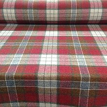 Lewis Berry Red Green Beige Plaid Tartan Check