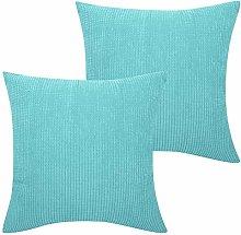 Lewondr Corduroy Cushion Cover, Square Solid