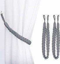 Lewondr Curtain Rope Buckle, 2 Pieces Cotton