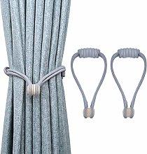 Lewondr Magnetic Window Curtain Rope Holdbacks, 2