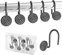 Lewondr Shower Curtain Hooks, Set of 12 Heavy Duty