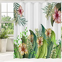 Lewondr Shower Curtain, Water Resistant High-duty