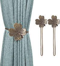 Lewondr Vintage Clover Magnetic Curtain Tieback, 1