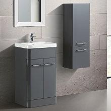 Lex Freestanding Mdf Bathroom 500mm Vanity Unit &