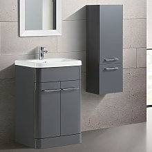 Lex Freestanding MDF Bathroom 600mm Vanity Unit &