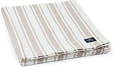 Lexington Striped Tablecloth, White/Beige