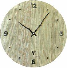 LEXPOP Radio Controlled Wooden Wall Clock - Silent