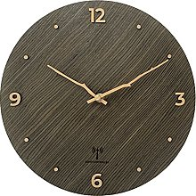 LEXPOP Radio Controlled Wooden Wall Clock with 3D