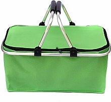 Leyeet 30L Folding Picnic Camping Basket Insulated